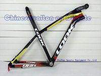 Wholesale 2013 LOOK E Post Mountain bike ER ER MTB carbon frame with stem BLACK LABEL WHITE COLOR size M color L1