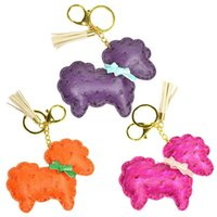 best love seat - Hot Salw Best seller New Cute Leather Double Sheep Love Charm Purse Handbag Key Chain Key Ring Gift