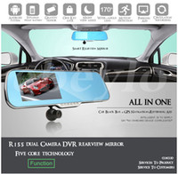Wholesale Car dvr quot Android Car Rear view Mirror Navi GPS P DVR Wifi Backup Camera