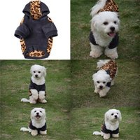 Wholesale Hot Sales Pet Dog Puppy Sweater Hoodie Jumpsuit Coat Clothes Warm Winter Soft Cotton XS XL MA23