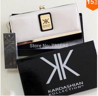 Wholesale Kardashian kollection long design women s wallet kk clutch bags high grade wallet wallet long design fashion women s