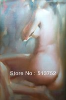 Cheap Sex Nude Girl Oil Paintings Home Decoration Impress Painted By Hand Naked Woman Body bedroom