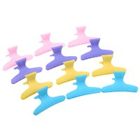 Wholesale Fashion Plastic Colorful Hair Clips Hairdressing Tool Butterfly Hair Claw Salon Section Clip Clamps Styling Tools H13374