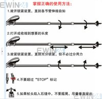 Wholesale Aluminum Alloy Section Retractable Hiking Trekking Stick Antishock Walking Skiing Pole Cane