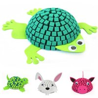 Wholesale 3D Three dimensional Mosaic Animals Creative DIY Manual Educational Toys Christmas Gifts For Kids Health And Safety H393