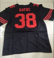 Basketball manning jersey - Men Jarryd Hayne Jersey ELITE Game Men football jersey Size red white black Embroidery Logos Mix Order