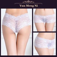 Bikini transparent panties - lace boyshort panties for adult women ladies V boyshort panties lace sexy underwear intimatewear transparent lace