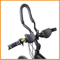 aero mountain bike - Top Quality Mountain Road MTB Bike Bicycle Aluminum Alloy Triathlon Aero Rest Bar Relaxation Cycling Handlebar