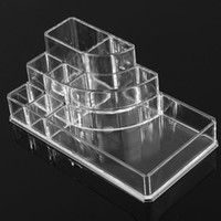Wholesale 2015 New Clear Makeup Jewelry Cosmetic Storage Display Box Acrylic Case Stand Rack Holder Organizer