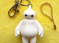 Cheap Super Pak Marines Keychain Big Hero 6 Baymax dimensional white doll pendant JIA026