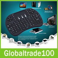 Wholesale Mini i8 Rii G Wireless Game Keyboard PC Remote Controls Portable With Touchpad Keyboards Keys for Andriod TV Box Tablet PC