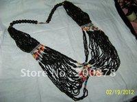 beaded peter pan collar necklace - TNL427 Tibetan Black mini beads Peter pan Collar Necklace inch Ethnic fashion Bohemian necklace Low MOQ