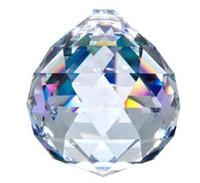 achat en gros de boule de cristal prisme pendentif-Gros-10PCS / LOT 40MM AB COULEUR lustre en cristal pendentif accroché baisse du prisme de cristal de verre de boule de cristal et pendentif