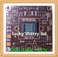 Wholesale 700TVL SONY EFFIO quot CCD ICX672 CXD4140 CCTV camera module chip board with OSD Cable LEN