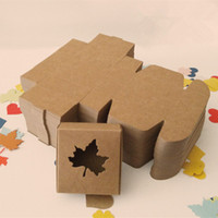 Wholesale 6 cm Brown Cardboard Pack Boxes For Hand made Rings With A Lovely Maple Leaf Shaped Window To Show Gifts Boxes