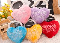 Wholesale 1 pc Dog Pet Heart Shape Cute Sound Toy Puppy Practice Squeaker Chew Play Squeaky Toy