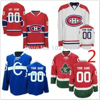 Factory Outlet, New Customized Canadiens de Montréal Chandails personnalisés Stitched chandails de hockey sur glace pour les hommes, les femmes et les enfants