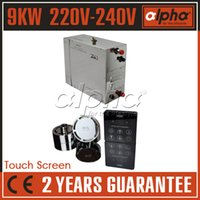 Wholesale 9KW220 V50HZ SUS The best Residential Domestic Commercial steam generator with waterproof and touch controller CE YEARS GUARANTEE