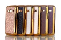 ace line - Fashion Luxury Metal Gold Electroplating Hard Back Phone Case For Samsung Galaxy Ace Bag NXT G313 G313H Football lines Lagging Leather