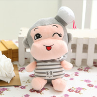 baby laughs - Navy Monkey with Smile Laughing and CM Length Cute Lovely Baby Toys Plush Toy for Kids Gifts SY016B