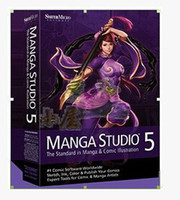 Wholesale Professional animation design software MANGA STUDIO material package in English