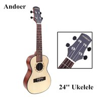 Wholesale New Andoer Ukelele Hawaiian Ukelele Top Mahogany Back Aquila Rosewood Fretboard Bridge Ukelele with Case