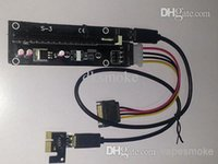 Wholesale one PC PCI E PCI E Express x to x Riser Extender Adapter Card with cm USB Cable power for bitcoin