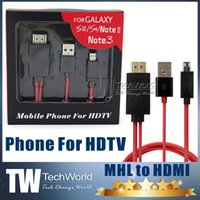 Wholesale HDMI Cable Full HD P Micro USB MHL To HDMI HDTV Adapter Converter Mobile Phone Digital Cable For Samsung Galaxy S3 S4 Note2 DHL Free