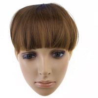Wholesale IMC Synthetic Hair Fringe Bangs Wig with Clips Light Brown order lt no track