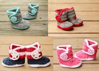 Unisex Spring / Autumn Cotton 2015 style Knitted newborn Booties!Handmade Crochet toddler snow boots,cotton yarn baby shoes,winter button walking shoes.8pairs 16pcs