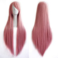 heat resistant wig - 2015 Women s Cosplay Long Straight Hair Party Full Heat Resistant Wig