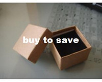 Wholesale High quality Jewelry Packaging and display Boxes Kraft Paper Box Ring Box Earrings Box Pendant gift Box J18