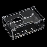 Wholesale Clear Case Cover Transparent Shell Box for Raspberry Pi Model B Support Fan Installation order lt no track