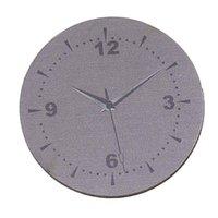 "Cheap Wood Cabochons Scrapbooking Embellishments Findings Round Purple gray Clock Pattern 3.8cm(1 4 8"")Dia,30 PCs 2015 new"