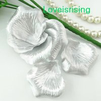 Wholesale 5 packs Silver Non Woven Fabric Artificial Rose Flower Petal For Wedding Party Favor Decor