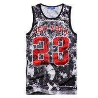 clothing new york - Alisister Summer style mens basketball tank tops new brand NEW YORK vest clothing fit slim d sleeveless tee shirt Jordan top