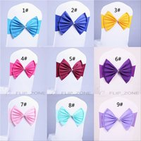 Wholesale Classic Big Bows Mint Satin Finished Product Chair Sashes Beach Wedding Party Decorations Celebrations Decor Banquet Supply Chair Bows Sash