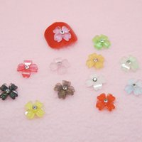 accessories colored diamond - Nail Decorations DIY nail art Crystal D flower finger accessories sparkling diamond colored glaze flowers