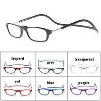Wholesale Multi color Magnetic Reading Glasses Folding Reader Glasses Neck Hanging Eye Glasses