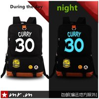 Wholesale New Stephen Curry fluorescence football shoulder bag canvas bag computer bag man bag backpack