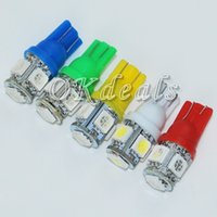 Wholesale 10 Ultra Bright T10 W5W SMD Auto LED Car Wedge Tail Side Light Lamp Colors