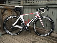 bicycle - Cervelo s5 White Carbon Road Bicycle Bikes with Original ULTEGRA groupset zipp mm Alloy Carbon Road Wheelset