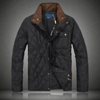 Wholesale men Winter Fall White Down Feather Padded thicker Coat wadded jacket slim JACKET Stand up Collar Men Polo Down Jacket coat