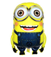 Wholesale Cartoon Despicable Me Minions Helium Balloons Foil Aluminium Coating cm Balloon Toys For Kids Boy Birthday Party Decorations DHL Free
