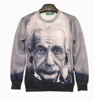 Wholesale Hot Sale spring autumn D Men Women High Wisdom Einstein Pattern Hoodies sweatshirt Men Blouse Top Tees