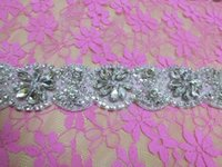 antique trims - GENUINE CRYSTAL RHINESTONE Glass Drill FLORAL TRIM FLOWER BRIDAL Bridal Headwear AA CM CM