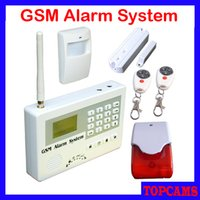 Wholesale LCD Two way Voice Wireless GSM Alarm System security home Alarm With Gas Fire Smoke Water Flood Door Contact PIR Sensors S110