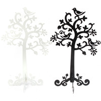 Wholesale Top Quality Metal Jewelry Earring Ring Tree Shaped Display Stand Holder Decorative Beautify Supplies Black or White