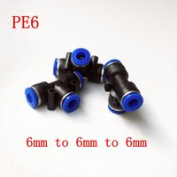 Wholesale 15pcs Pneumatic Air Fitting mm to mm to mm T Shape Quick Fitting Connector PE6
