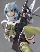 anime products online - Anime Figure Brinquedos Kotobukiya Sword Art Online Figure Juguetes GGO Sinon Asada quot PVC Action Figure Model Doll Toys